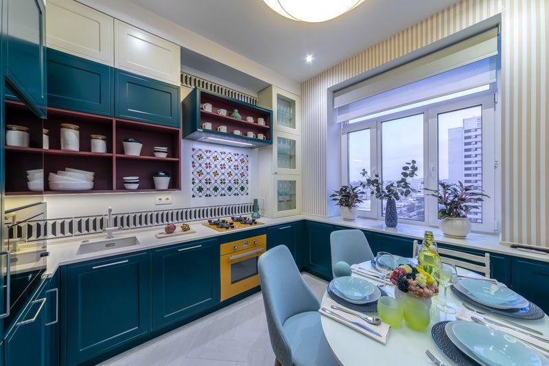 Кухни «Мария» в главном цвете 2020 года Pantone