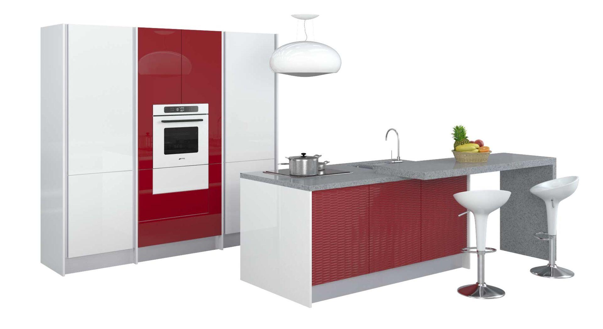 Красно-белые кухни в г. Санкт-Петербург