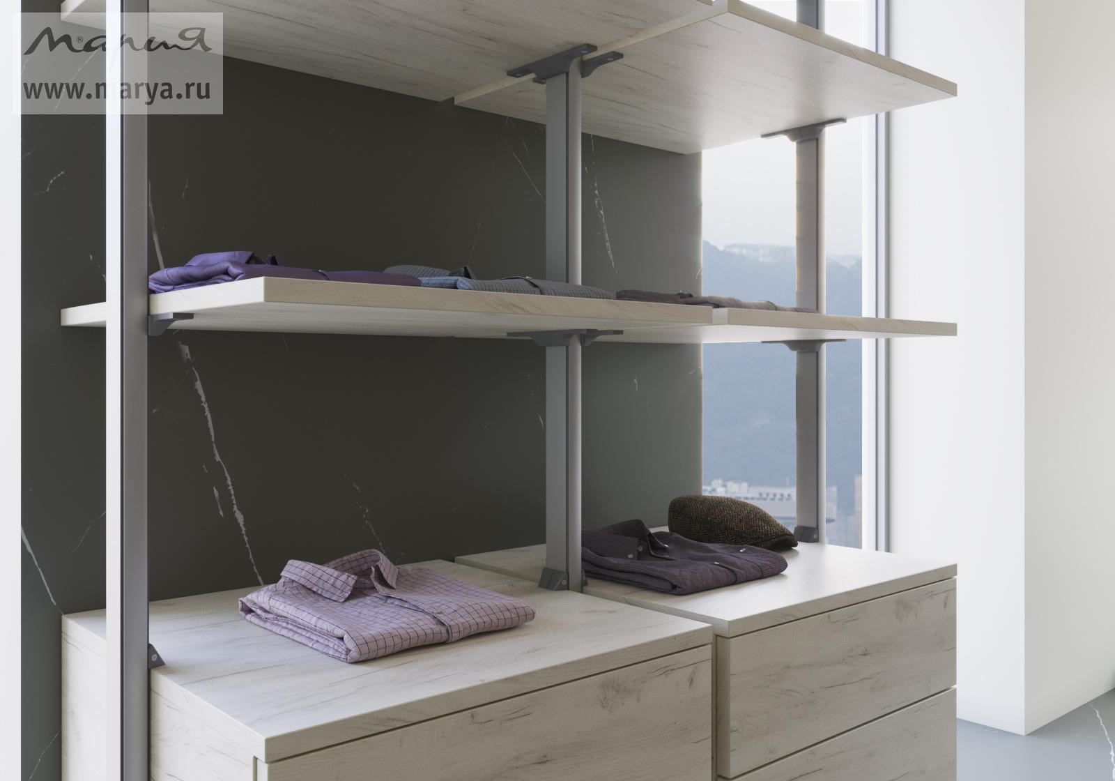 Новые гардеробные системы Stilos в «Марии»