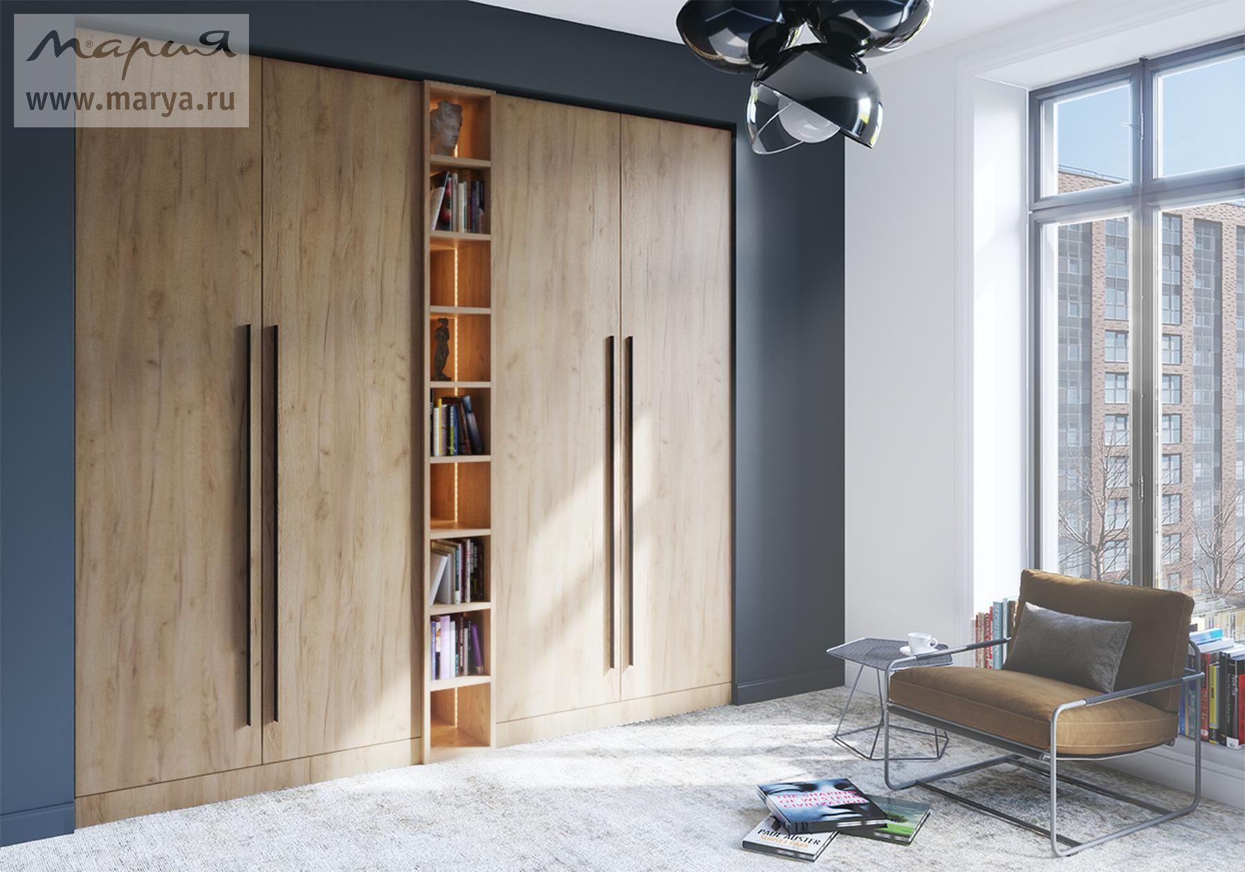 Фабрика обновила коллекцию распашных шкафов «Мария»