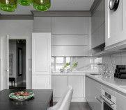 «Мария» на houzz.ru: вариант дизайна кухни-гостиной площадью 17 кв. м