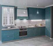 Кухня мечты цвета «водная синь»