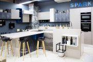 Шоу-рум фабрики «Мария»: кухня, шкаф-купе и гардеробная Spark