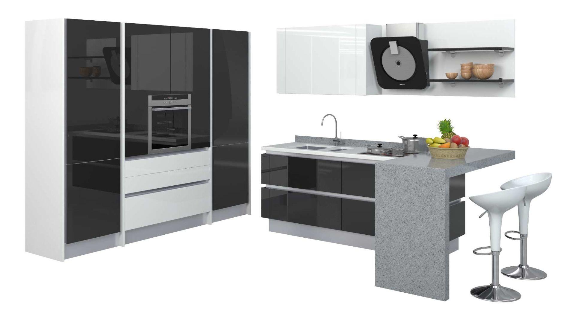 Черно-белые кухни в г. Магнитогорск
