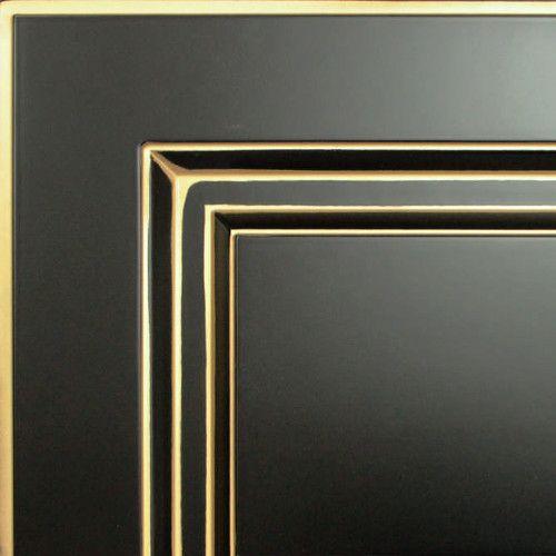 Черный с золотой патиной