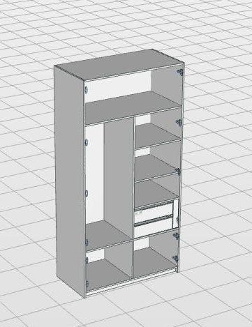 Компоновка распашного шкафа Mix