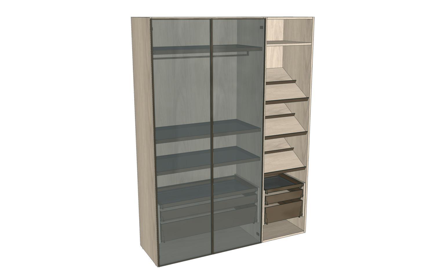 Компоновка распашного шкафа Mixal