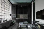 Брутальные апартаменты в черно-серых тонах