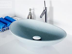 Стильная новинка: накладные раковины для ванных комнат
